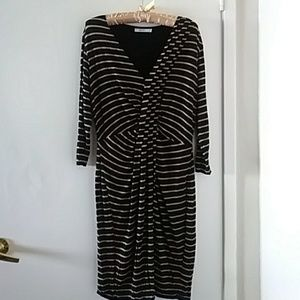 Anthropology- Bailey 44 Confluenced Striped Dress